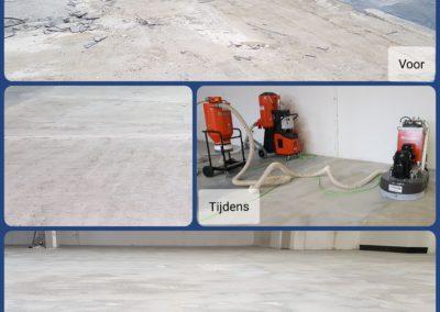 Collage lijmresten verwijderen XJ Flooring