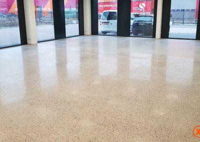 Milieuvriendelijke betonvloer na polijsten XJ Hiper Premium