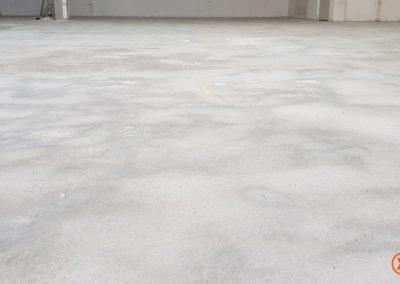 Diverse projecten lijmresten verwijderen betonvloer