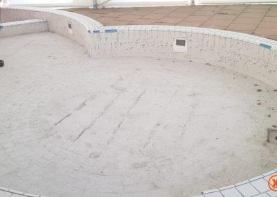 Voor tegellijmresten verwijderen XJ Flooring