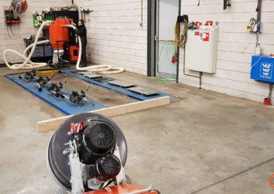 betonvloer vooraf 1 autogarage