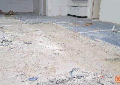 voor lijmresten verwijderen XJ Flooring